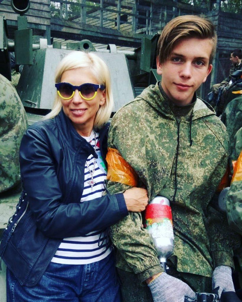 Свиридова с младшим сыном