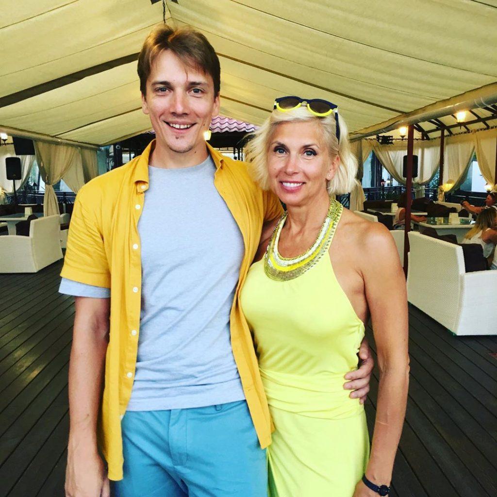 Свиридова со старшим сыном